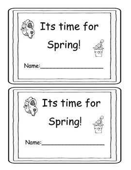 Spring Little Book-spring words and pictures