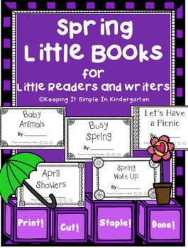Kindergarten Writing Center - Spring Little Books for Litt