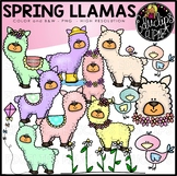 Spring Llamas Clip Art Set {Educlips}