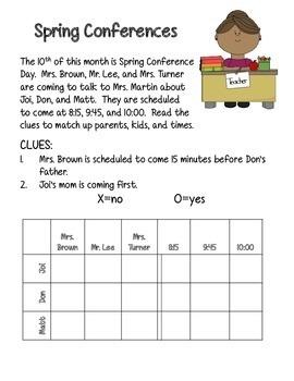 Spring Logic Puzzles