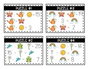 Spring Logic Puzzles- Addition and Subtraction