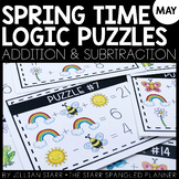 Spring Math Logic Puzzles- Addition and Subtraction
