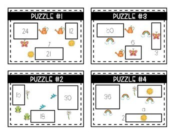 Spring Logic Puzzles- Area, Perimeter and Multiplication