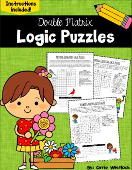 Spring Logic Puzzles -  Double Matrix