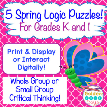 Spring Logic Puzzles For Kindergarten And First Grade! Cri