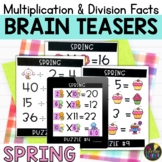 Spring Logic Puzzles   Multiplication and Division Facts