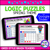 Spring Logic Puzzles with Grids   for Google Classroom   D