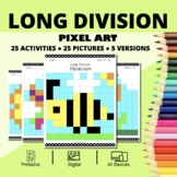Spring: Long Division Pixel Art - Distance Learning Compatible