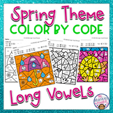 Spring Long Vowel Sounds Color By Code