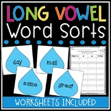 Long Vowel Word Sorts and Worksheets (5 Cute Spring Themed Word Sorts)