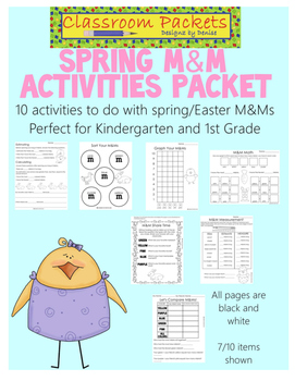Spring M&M Activities Packet