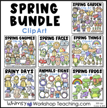 Springtime Bundle Clip Art - 3 Pack