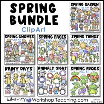 Spring MEGA Bundle Clip Art - Whimsy Workshop Teaching