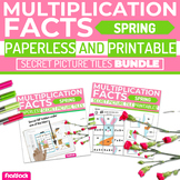 Spring MULTIPLICATION FACTS Paperless + Printable Secret P