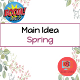 Spring Main Idea Boom Cards™️ Speech Therapy