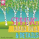 Spring Main Idea and Details Printables