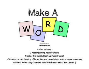 Spring Make-A-Word Center