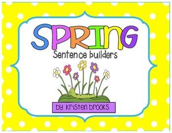 Spring Make a Sentence (literacy station activity)