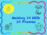 Spring Making 10 with 10 Frames Cut and Paste FREEBIE