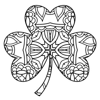 Spring Holiday Theme Mandala Coloring Book - April Fool's, Easter, St. Patrick's