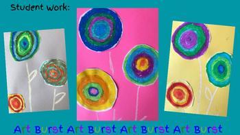 Spring Art Project, April Flowers, Kandinsky, Art History, Critical Thinking