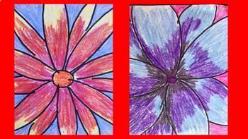 Flower Art Project, Georgia O'Keeffe, Bulletin Board, Art History