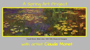 Spring Art Project, Flowers, Monet, Bulletin Board, Art History