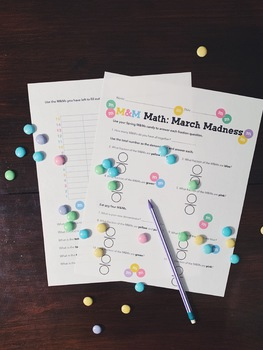 Spring: March M&Ms Math Activity