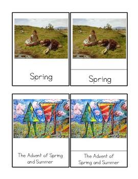 Spring Masterpieces - Montessori 3 Part Cards