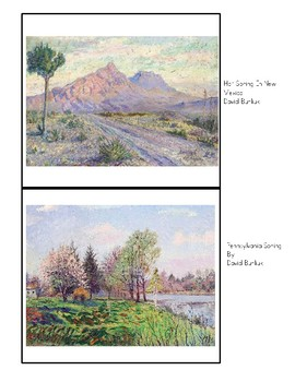 Spring Masterpieces - Montessori Classified Cards