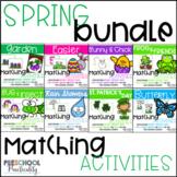 Spring Matching Activities Bundle for Toddlers, Preschool,
