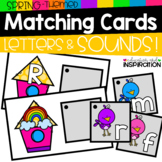 Spring-Themed Matching Cards for Letters and Sounds