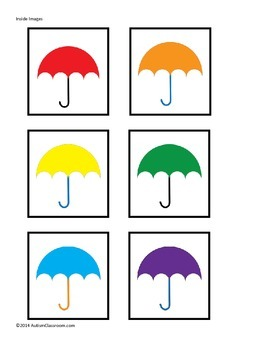 Autism File Folder Games: Spring Matching - Umbrellas, Flowers, Patterns