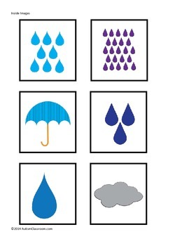 Autism File Folder Games: Spring Matching - Umbrellas, Flowers, Patterns