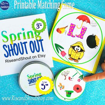 "Spring Matching Game Shout Out; Spot the Match Game 3"" & 5""vocabulary, language"