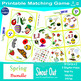 "Spring Matching Game Shout Out; 31 Printable 3"" Cards with"