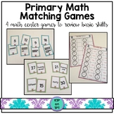 Primary Math Matching Games- 4 fun skill review games!