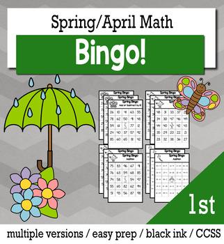 Spring Math 1st Grade BINGO Game Bundle