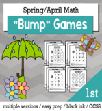 Spring Math 1st Grade+ Bump Games Bundle