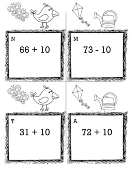 Spring Math 1st Grade Scavenger Hunt Game Bundle