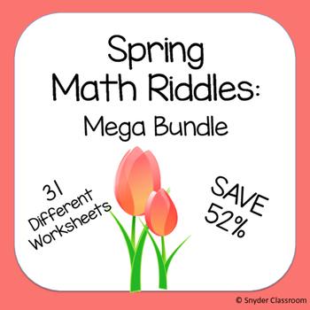 Spring Math Riddles MEGA Bundle (Save 52%)