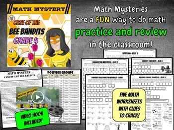 4th Grade Spring Activity: Math Mystery - Division Time Change multiples