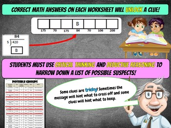 4th Grade Spring Activity: Spring Math Mystery - Division Time Change multiples