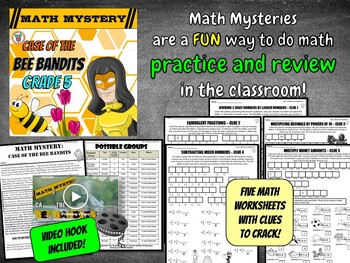 5th Grade Spring Activity: Math Mystery {Division Fractions Decimals and more}