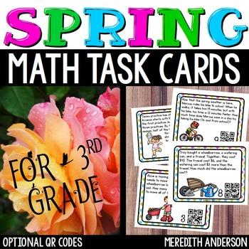 Spring Math Task Cards