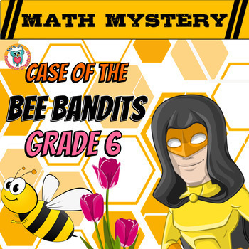 6th Grade Spring Activity: Spring Math Mystery - Volume Integers Percents ++