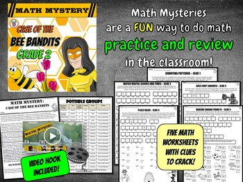 2nd Grade Spring Activity: Spring Math Mystery - Counting Time Place Value Area