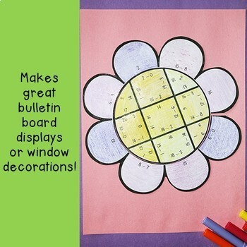 Spring Math Centers: Subtraction Flower Puzzles