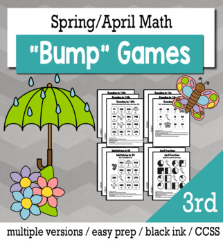Spring Math 3rd Grade+ Bump Games Bundle