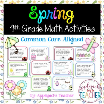Spring Math Activities - 4th Grade - Common Core Aligned